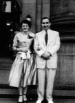 Elias Wedding Picture with Celia Was, 1952