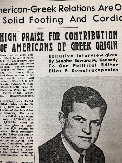 Senator Ted Kennedy interview